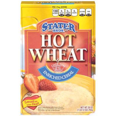 Stater Bros. Hot Wheat Enriched Cereal 28 Oz Box