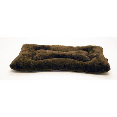 Furhaven Snuggle Terry and Suede Nap Mat Color: Espresso, Size: X-Large (41