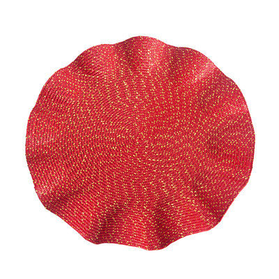 Eziba Curly Red Placemats (Set of 4)