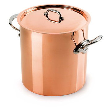 Mauviel M'Heritage Stock Pot w/Lid, Cast Stainless Steel Handle