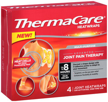 ThermaCare® Multi-Purpose Joint Pain Therapy Heatwraps 4 ct Box