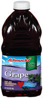 Schnucks Grape 100% Juice 64 Oz Plastic Bottle
