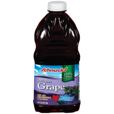 Schnucks Grape 100% Juice 64 Oz Plastic Bottle