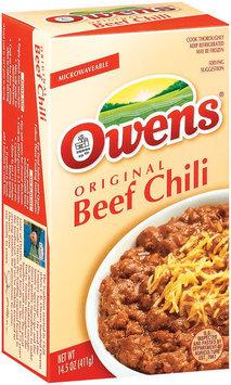 Owens Original Beef Chili 14.5 Oz Box