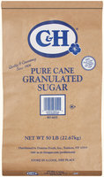 C&H Pure Cane Granulated Sugar 50 lb Bag
