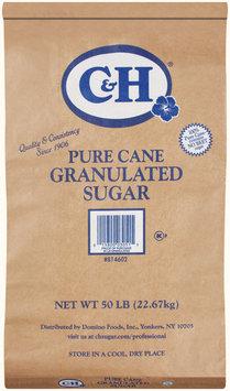 C&H Pure Cane Granulated Sugar 50 lb Bag