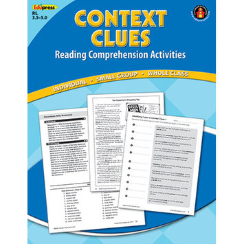 EDUPRESS EP2367 CONTEXT CLUES COMPREHENSION BK BLUE LEVEL