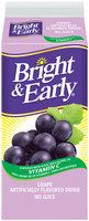 Bright & Early® Grape Flavored Drink 59 fl. oz. Carton