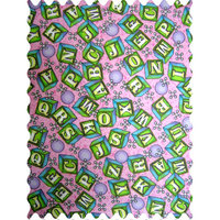 Stwd ABC Blocks Fabric by the Yard Color: Pink
