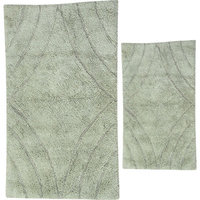 Textile Decor Castle 2 Piece 100% Cotton Diamond Spray Latex Bath Rug Set, 34 H X 21 W and 40 H X 24 W