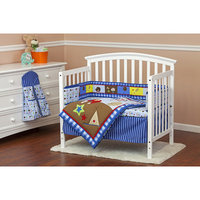Dream On Me All-Star Athlete 5 Piece Reversible Portable Crib Bedding Set
