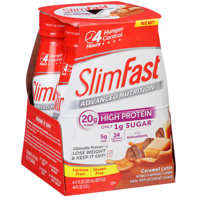 SlimFast® Advanced Nutrition Caramel Latte Meal Replacement Shake 4-11 fl. oz. Bottle