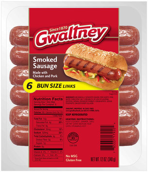 Gwaltney® Bun Size Smoked Sausage 12 oz. Pack