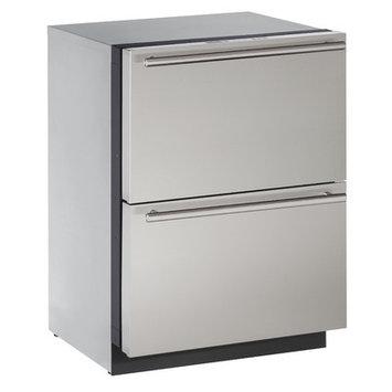 U-Line 24 Stainless Steel Refrigerator Drawers
