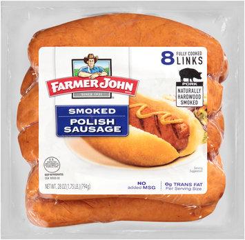 Farmer John® Smoked Polish Sausage 8 ct Pack