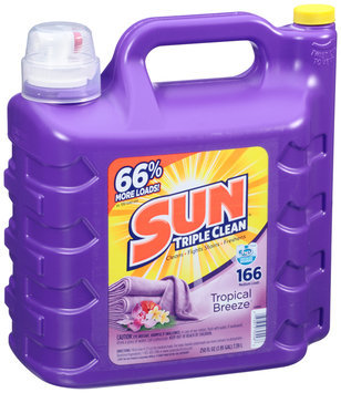 Sun Triple Clean® Tropical Breeze® Liquid Laundry Detergent 250 fl. oz. Jug