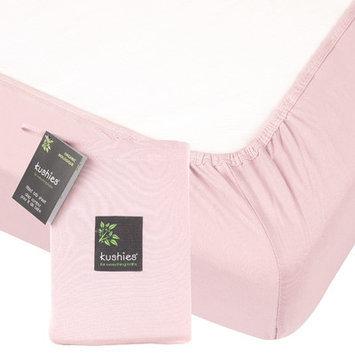 Kushies Organic Jersey Fitted Crib Sheet - Pink