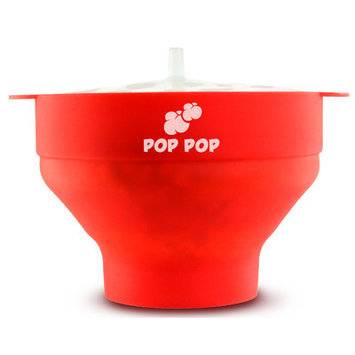 Pop Pop Easy 2 Minute Silicone Microwave Popcorn Maker