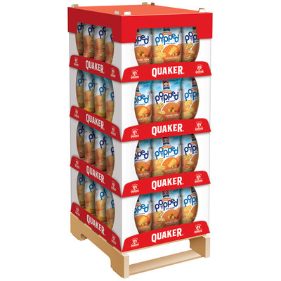 Quaker® Popped® Cheddar Cheese/Caramel Corn Rice Crisps Display