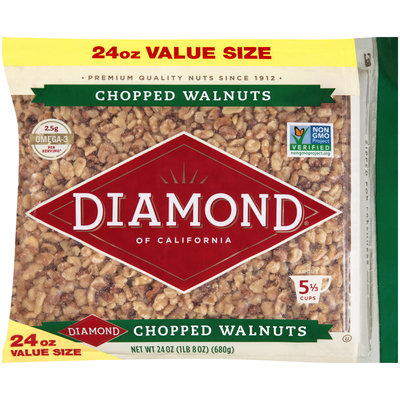 Diamond® of California Chopped Walnuts 24 oz. Bag