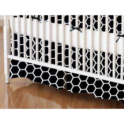 Stwd Honeycomb Crib Skirt Color: Black