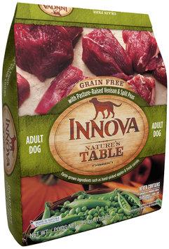 innova nature's table grain free with pasture-raised venison & split peas adult dog food