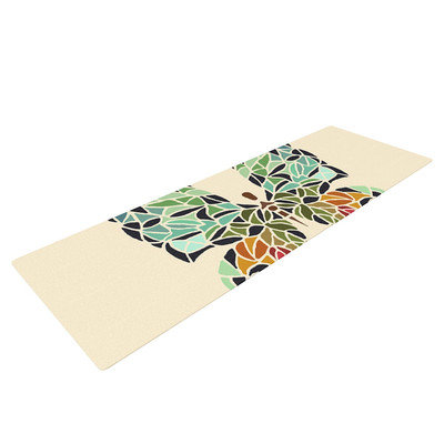 Kess Inhouse Butterfly by Art Love Passion Yoga Mat