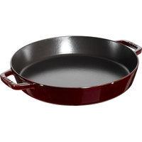 Staub Double Handle Fry Pan, 13-inch - Grenadine