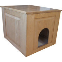 Classic Pet Beds Raised Panel Litter Box Concealment Cabinet Finish: Natural, Side Opening: Right