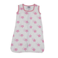 Bacati Stars Sleep Sack Color: Pink, Size: Newborn
