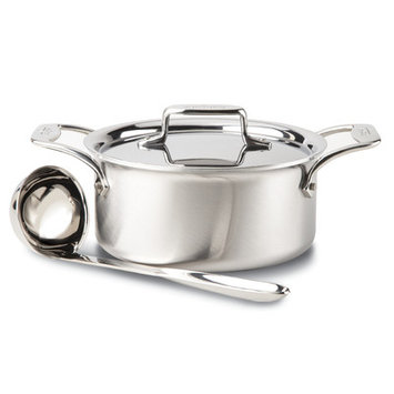 All Clad All-Clad 3-qt. Stainless Steel D5 Brushed Soup Pot with Ladle