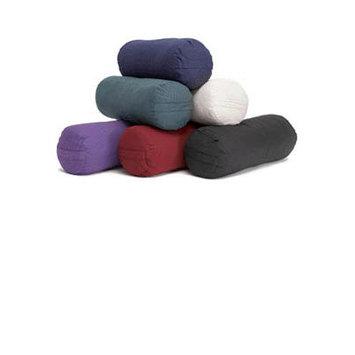 Yoga Direct Llc Yoga Direct Supportive Round Cotton Yoga Bolster Blue