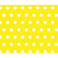 Stwd Polka Dots Crib/Toddler Fitted Sheet Color: Yellow