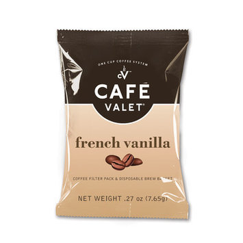 Cafe Valet Coffee for Cafe Valet Single Serve Brewers, French Vanilla, 84 Count