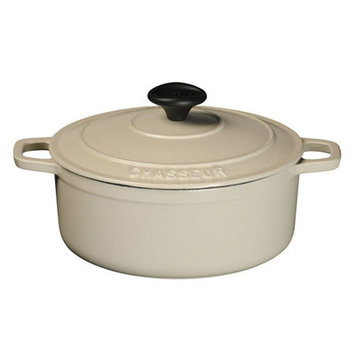 Paderno World Cuisine Matte Meringue Cast Iron Round Dutch Oven, 4 H x 7.88 W x 7.88 D