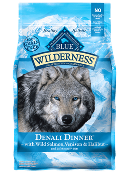 THE BLUE BUFFALO CO. BLUE™ Wilderness® Denali Dinner™ with Wild Salmon, Venison & Halibut Grain-Free Dry Dog Food