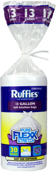 Ruffies® Pure Flexx Stretch™ Odor Control Wing Tie® Trash Bags
