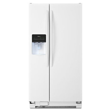 Amana White Side-By-Side Refrigerator