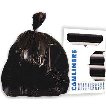 Boardwalk Commercial Can Liners High Density Black Trash Bags, Case