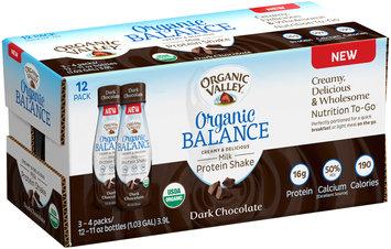 Organic Valley® Organic Balance Dark Chocolate Milk Protein Shake 12-11 oz. Bottles