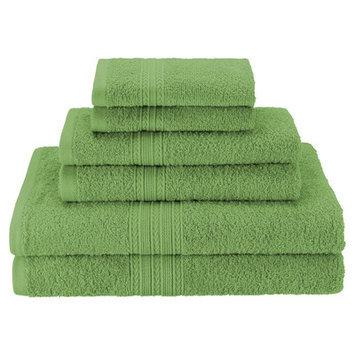 Simple Luxury Superior 6-Piece Towel Set, Terrace Green