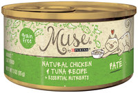 Muse by Purina Natural Chicken & Tuna Recipe Pate Cat Food 3 oz. Can