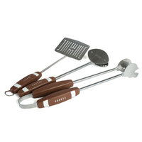 Charcoal Companion - Football 3PC BBQ Tool Set - Football/Stainless Steel