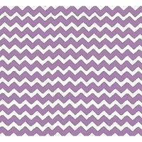 Stwd Chevron Zigzag Crib Sheet Color: Lilac