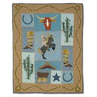 BELLACOR QCCWBY Cowboy Quilt Crib 36 x 46 Inch