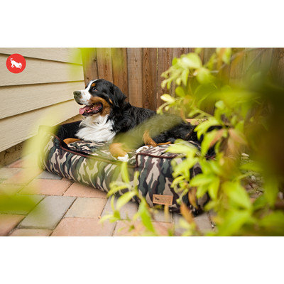PLAY Camouflage Green Lounge Dog Bed Large