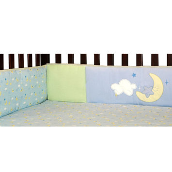 Laugh, Giggle & Smile Wish I May Crib Bumper (Blue)