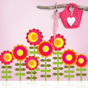 Wall Candy Arts WallCandy Arts Happy Flower Wall Decals