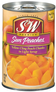 S&W® Sun Peaches in Light Syrup 15 oz. Pull-Top Can