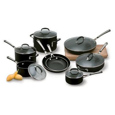 Calphalon Simply Enamel Nonstick 14-Piece Cookware Set